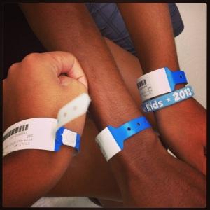 Our lovely blue bracelets